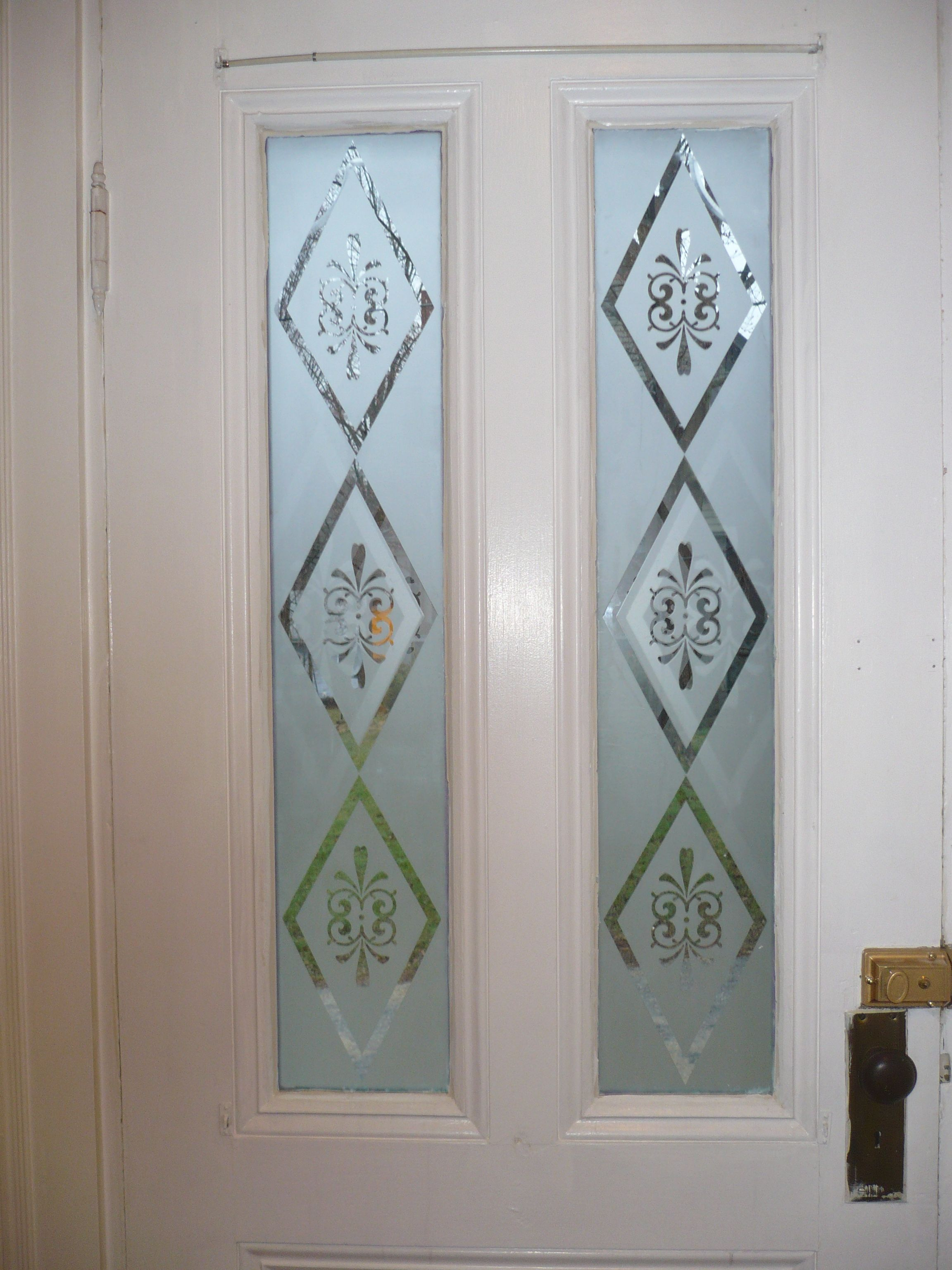 Replaced Front Door Windows Original Was Frostedetched One Was