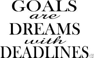 Goals Are Dreams With Deadlines Vinyl Wall Quotes Inspirational Sayings Home Art Decor Decal Amazon Com Inspirational Quotes Wall Quotes Vinyl Wall Quotes