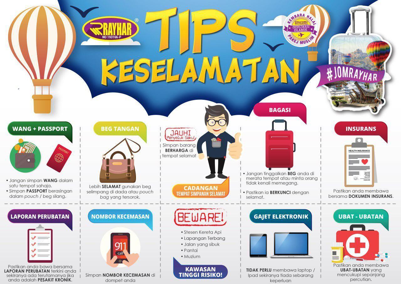 Tips Keselamatan sebelum melancong travel tips safety