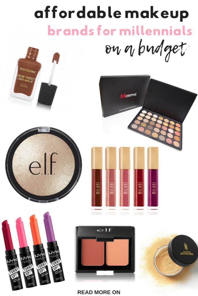 Affordable Makeup Brands For Millennials On A Budget