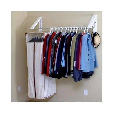 Closet Organizer Laundry Room Garage Basement Shelf Clothing Storage Rack  Hanger