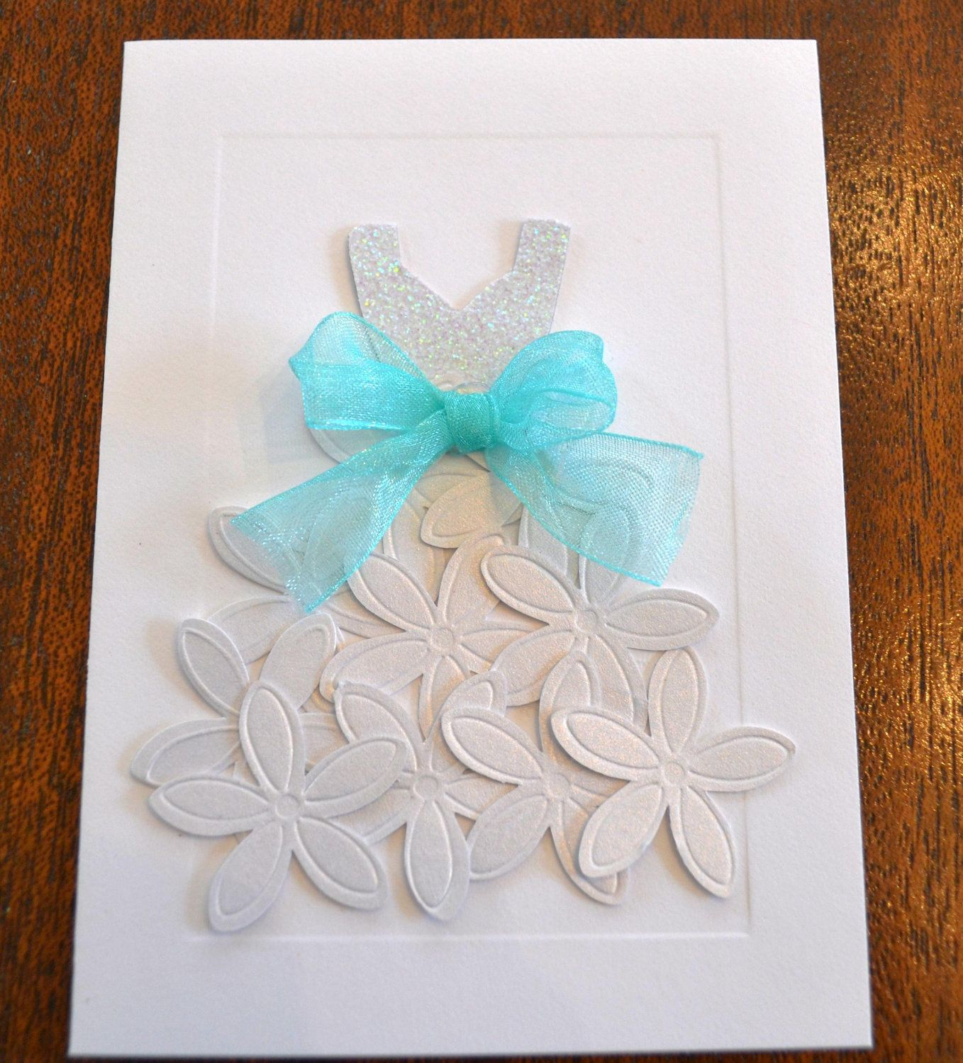 10 Wedding Dress Cards Invitations Bridal Shower Engagement Party ...