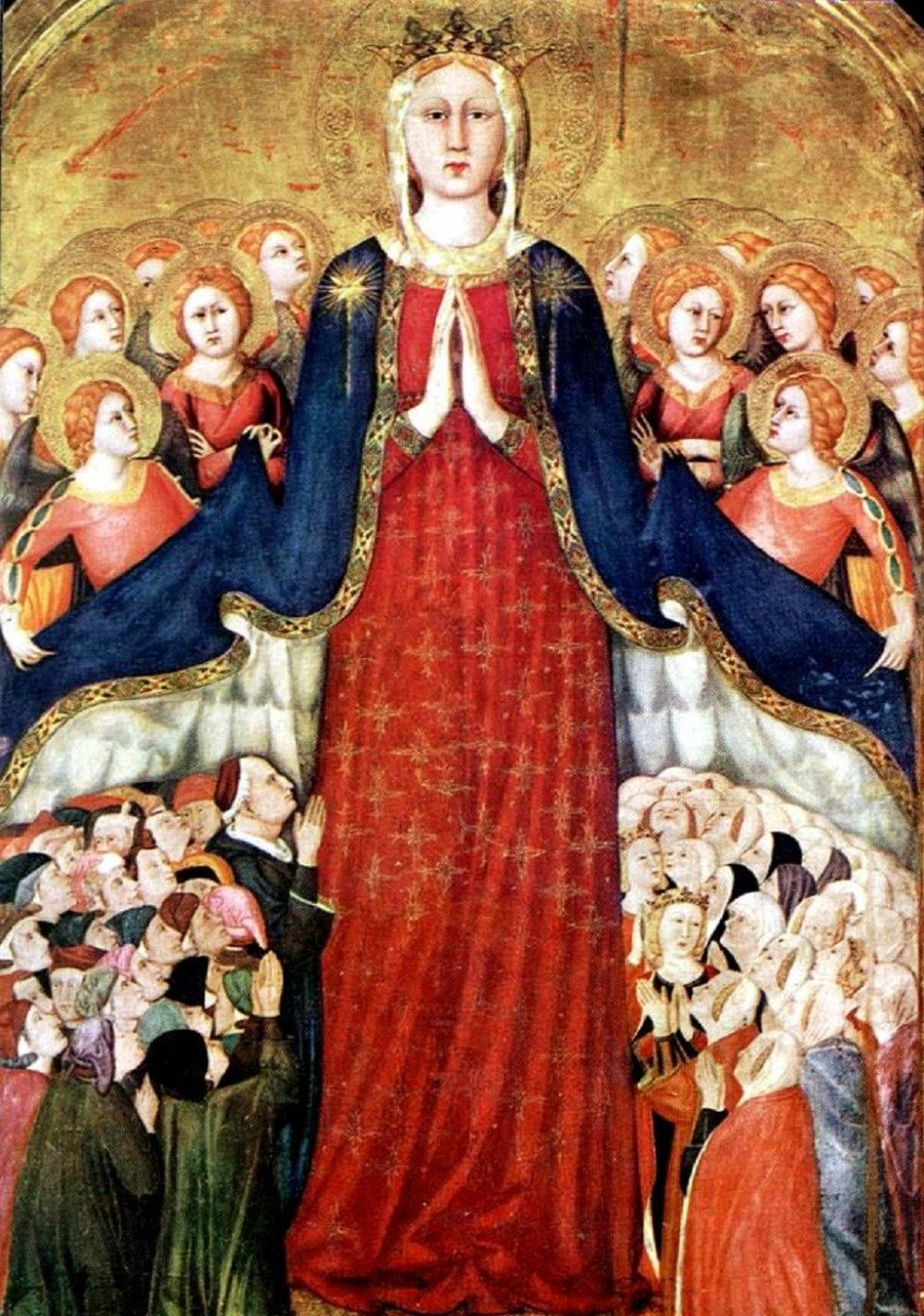 Lippo Memmi. The Virgin of Mercy. 1350s | Orvieto, Madonna, Images of mary