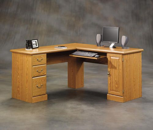 Best Corner Computer Desk Carolina Oak Finish At Menards Desk 400 x 300