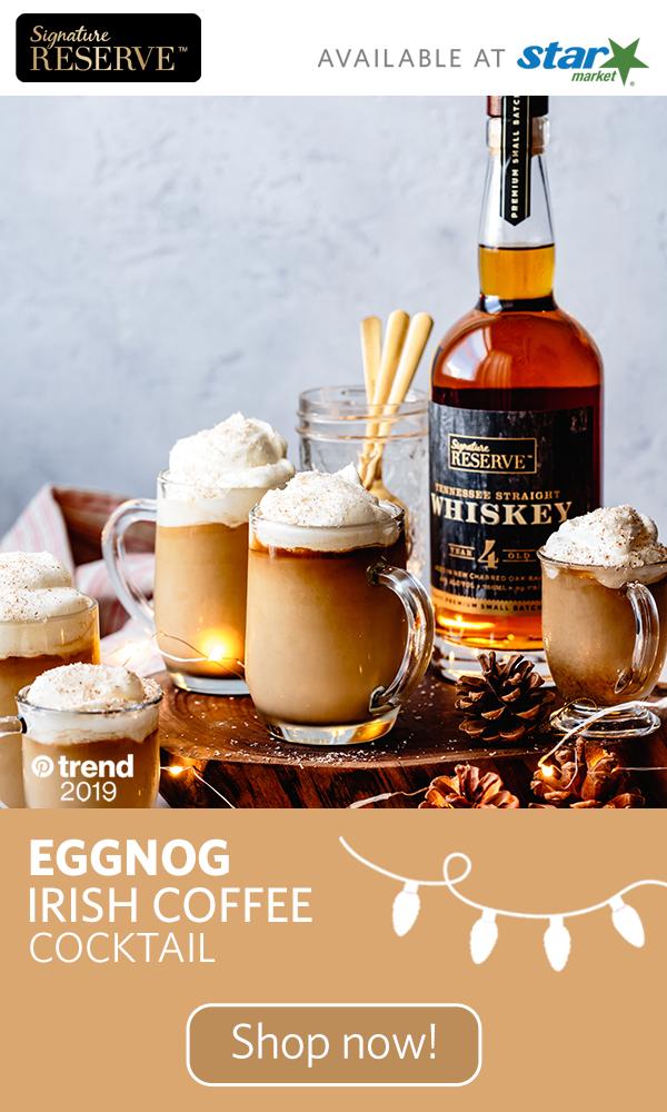Elevate classic eggnog with this Eggnog Irish Coffee