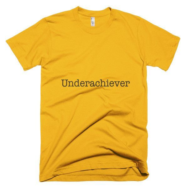 Underachiever (Black) Short sleeve men's t-shirt