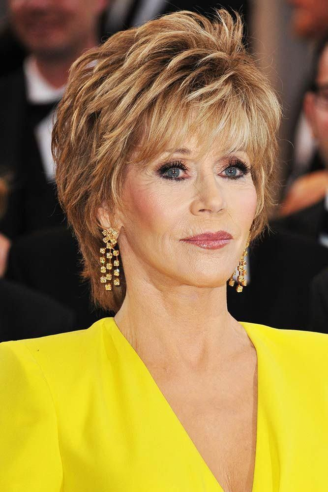 Feathered Pixie Pixie ϸ� Jane Fonda Hair Looks Are Nothing