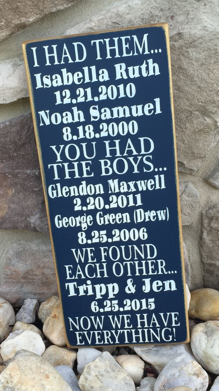 Personalized Blended Family Wood Sign Great Wedding Gift For Families Available Only At Facebook