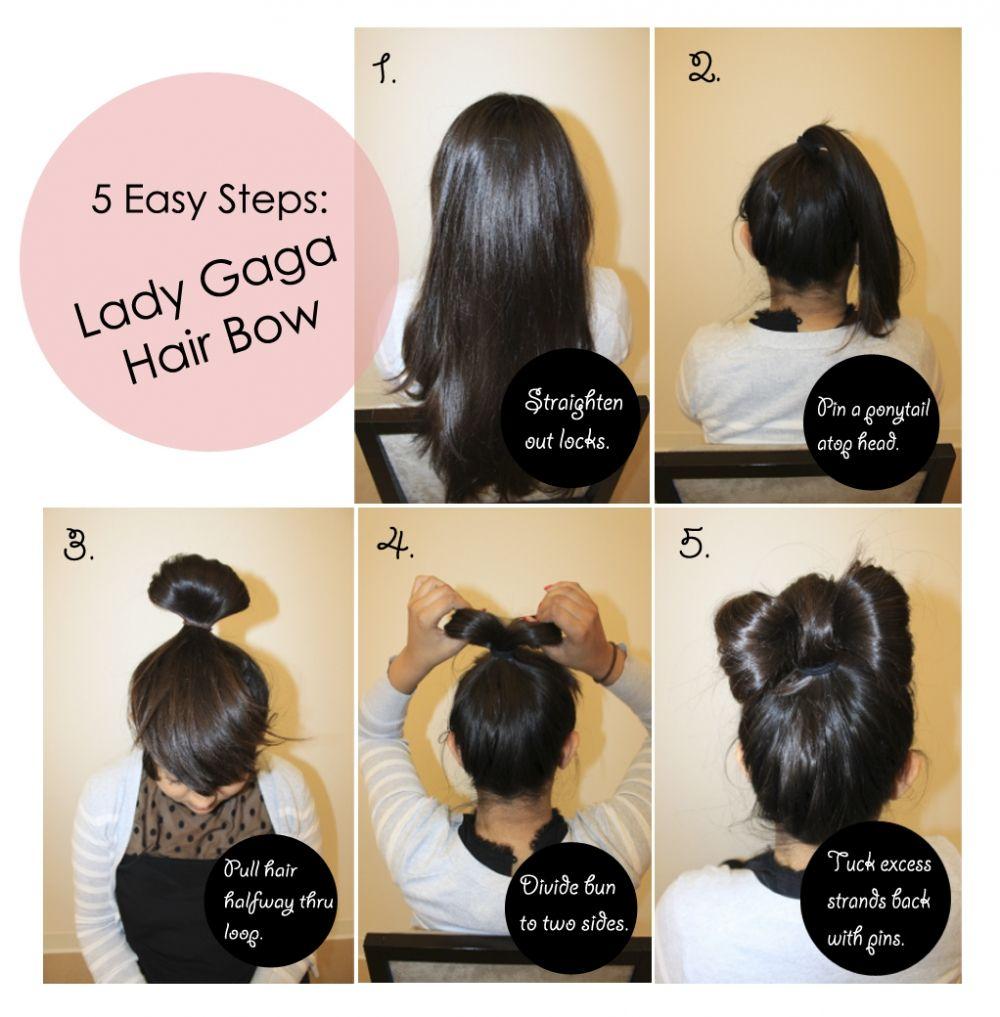 diy lady gaga hair bow | hairstyle diy | pinterest | lady gaga