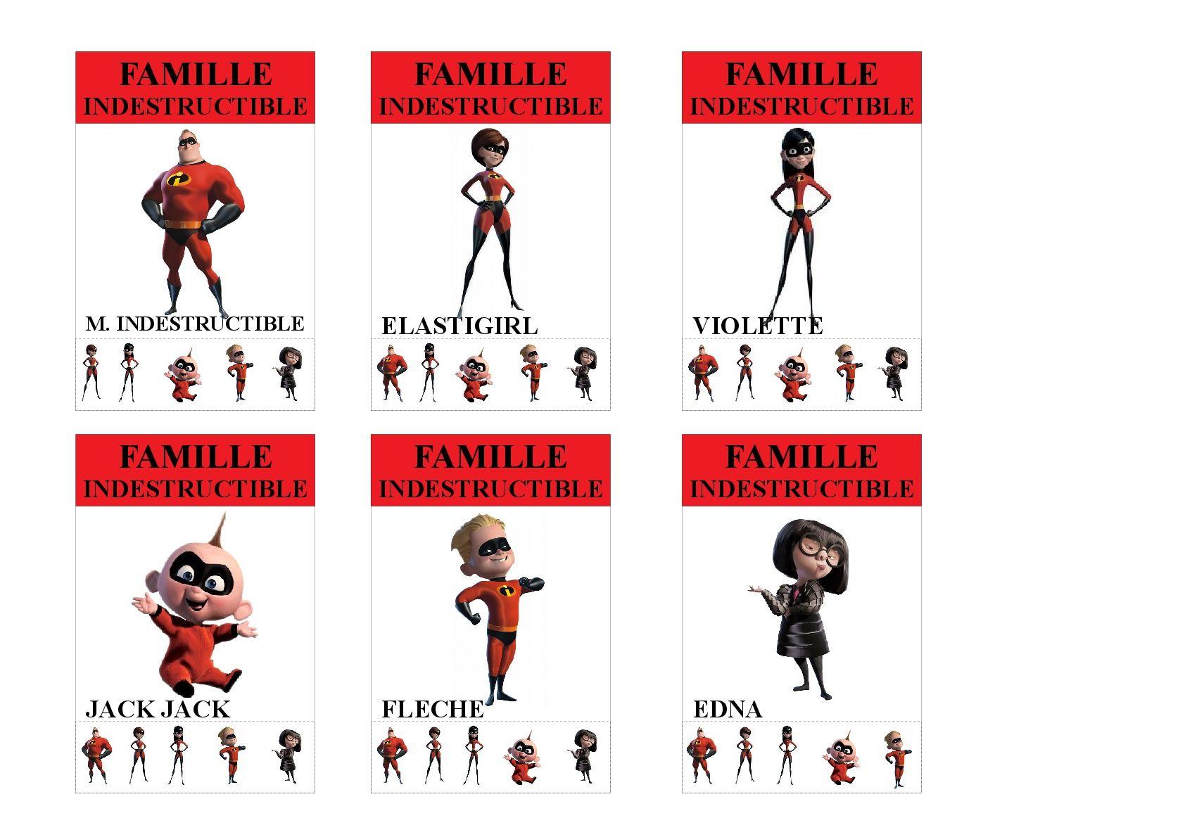 Famille Les Indestructibles Jeu Des 7 Familles Utilisable Pour Les Plus Jeunes Vu Que Tous Les Membres Des Fam Jeux Des 7 Familles Jeu De Cartes Famille Disney