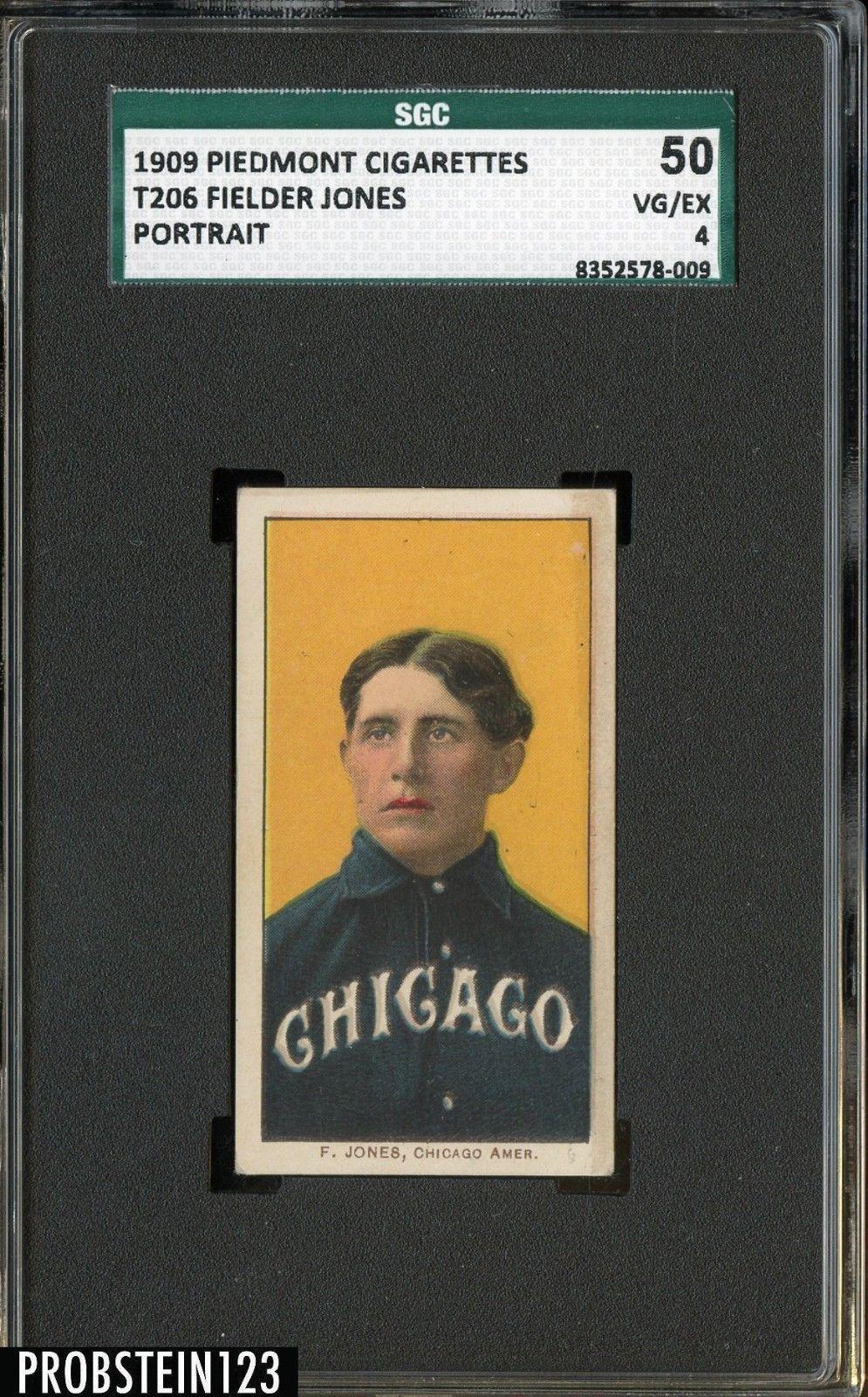 T206 Fielder Jones Portrait Piedmont 150 Subjects SGC 50