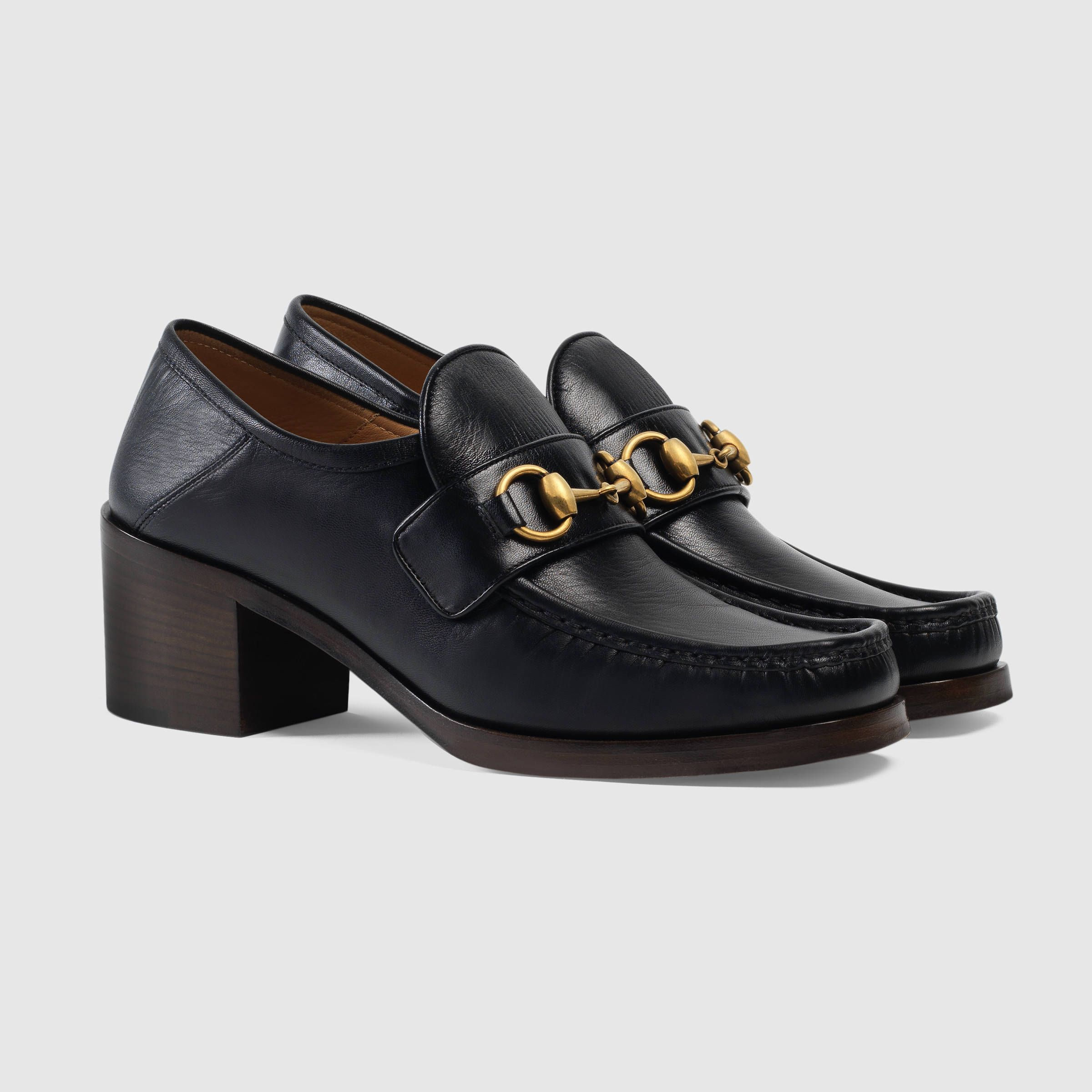 b21ee870ea0 Gucci Leather Horsebit loafers Detail 2