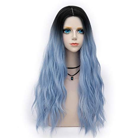 Wig Cap 70cm Long Curly Halloween Light Green Daily Lolita Lady Cosplay Wig