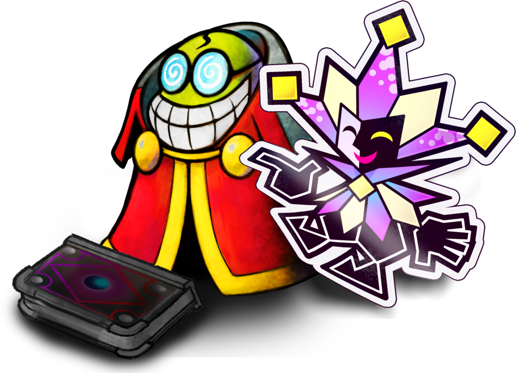 mario and luigi paper jam fawful and dimentio by fawfulthegreat64