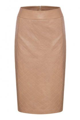 Quilted Leather Pencil Skirt by Rebecca Vallance | The Grand Social - on sale! but sadly only in Australia. This is a great Tone III white tone and leather and quilted. Awesome...
