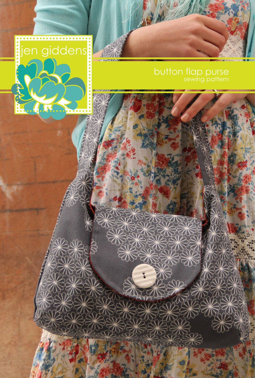 Button Flap Purse Sewing Pattern by jengiddens on Etsy