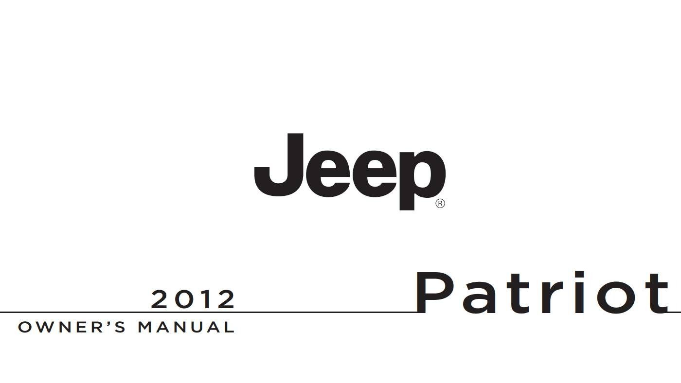 Jeep Patriot 2012 Owner's Manual has been published on