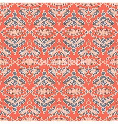 Vintage seamless pattern vector by Lianella on VectorStock®