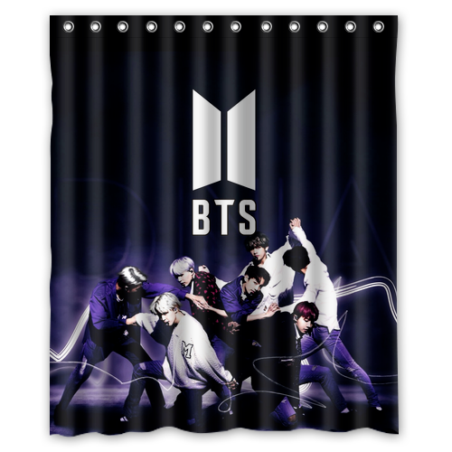 Photo of Luxury Design BTS Army Best Quality Waterproof Shower Curtain 60″ x 72″