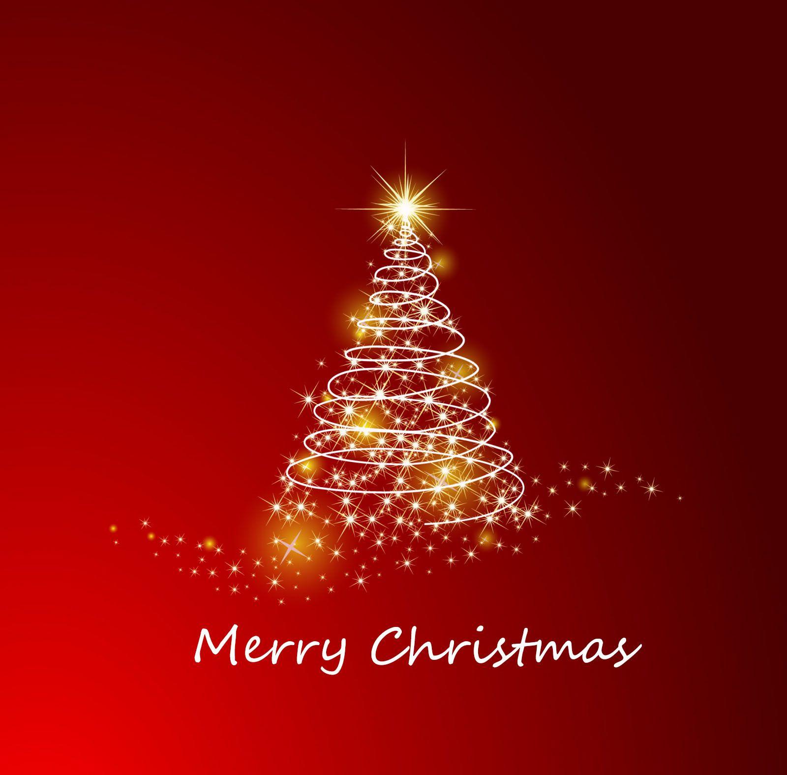 Merry Christmas Christmas Tree Background Christmas Card Template Christmas Tree