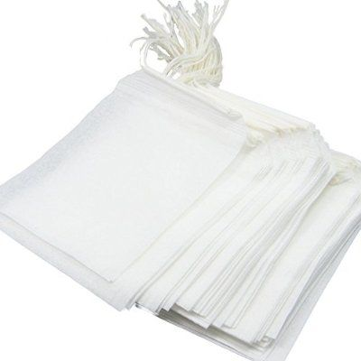 Large  Herbs Drawstring Cotton Muslin Filters Tea Bags