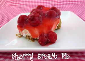 Cherry Dream Pie - perfect for Memorial Day gatherings