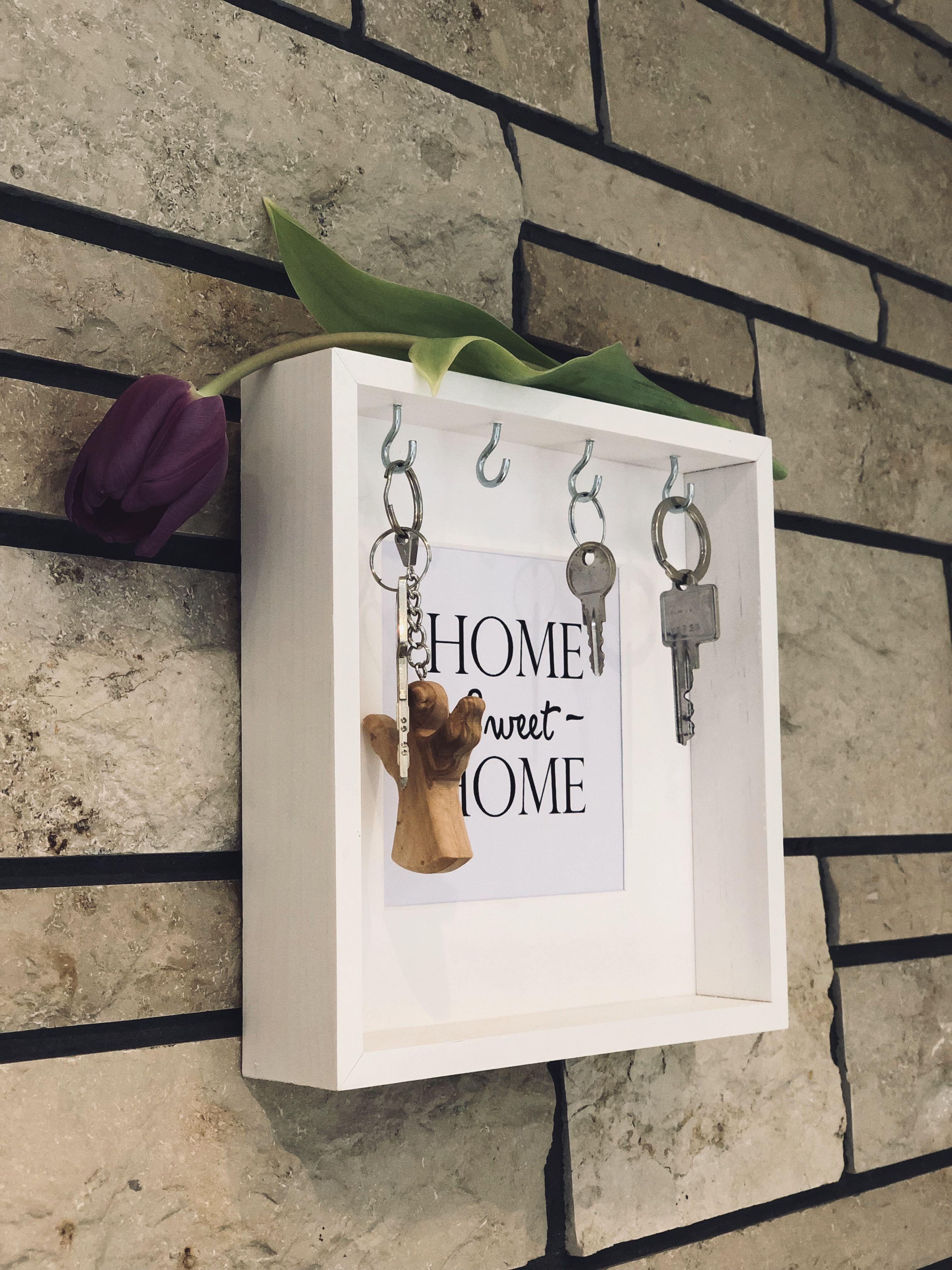 Schlüsselbrett Schlüsselkasten Schlüssel-Board Massivholz rustikal Shabby Pallet