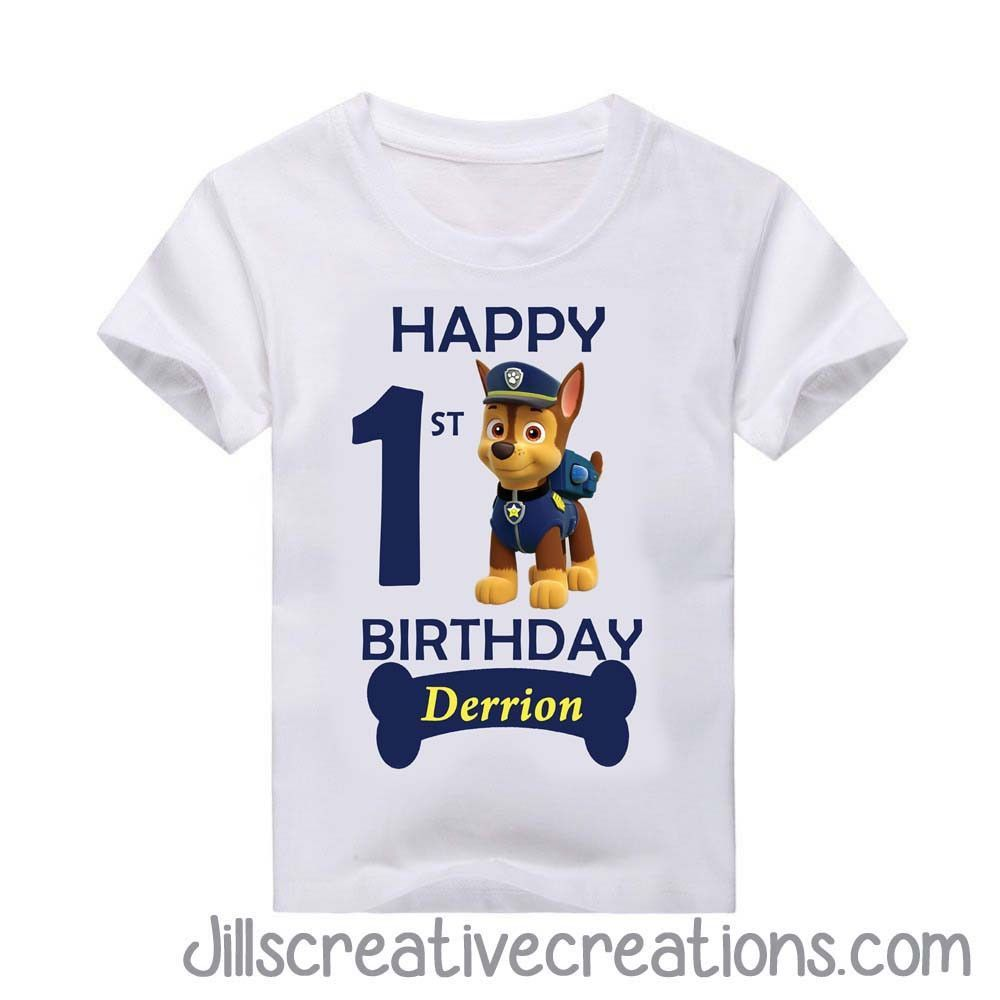 Paw Patrol T-Shirt If you need priority shipping, just email me jillsinvitations@gmail.com YOUTH SIZE CHART ADULT SIZE CHART