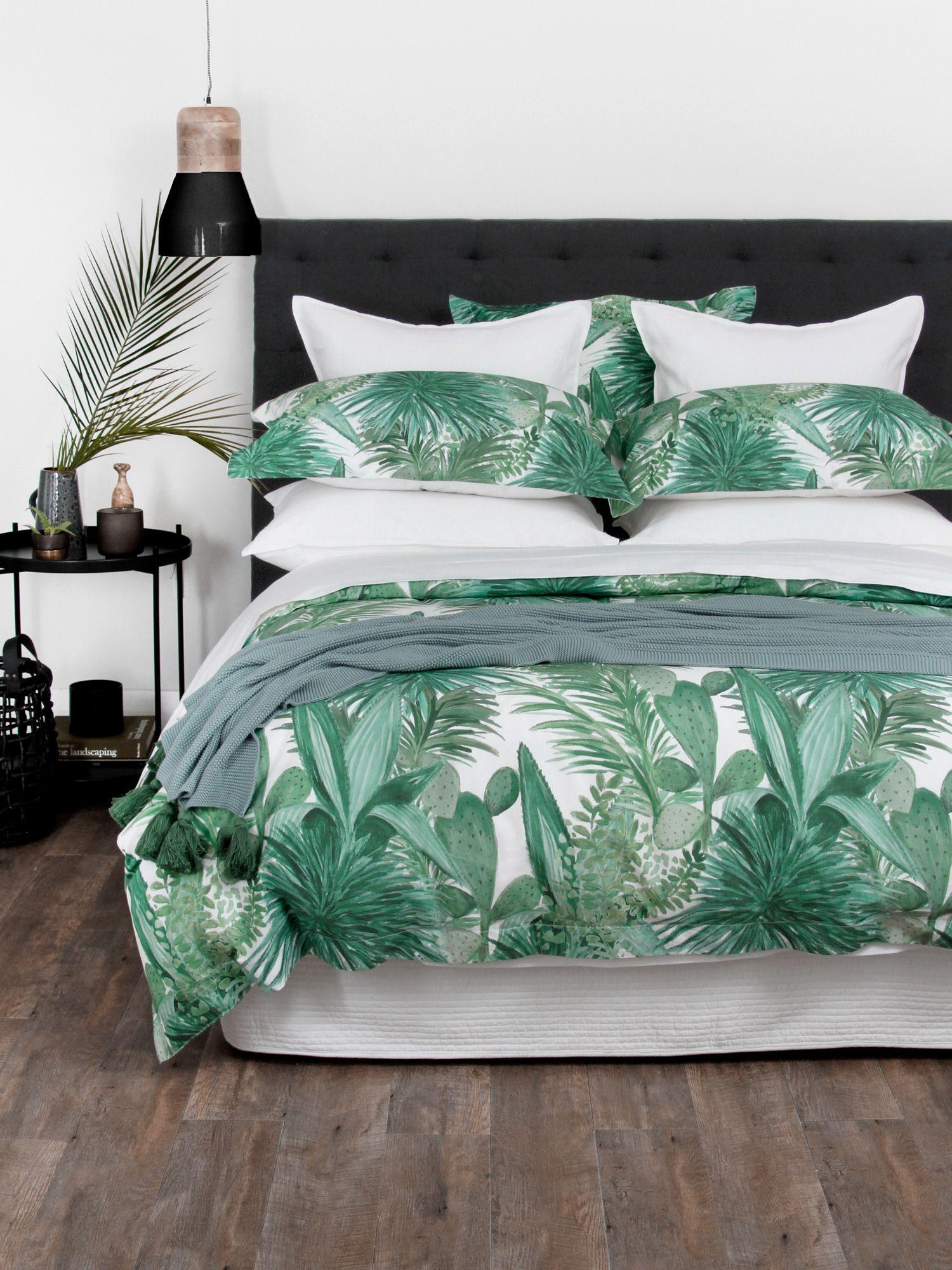 Cactus Bay Duvet Cover Set Duvet cover sets, Green duvet