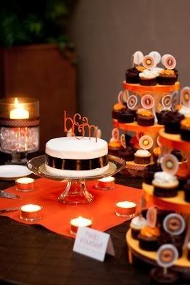 orange and brown wedding table numbers - Bing Images