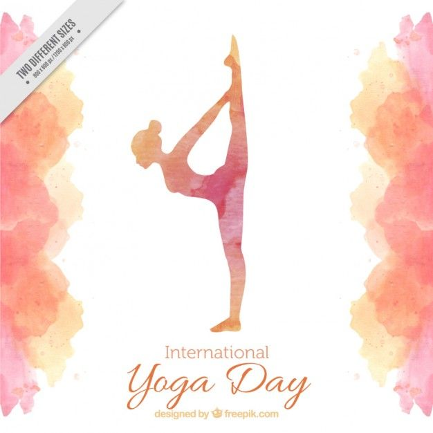 Download Watercolor Yoga Day Background For Free Yoga Day Happy International Yoga Day International Yoga Day