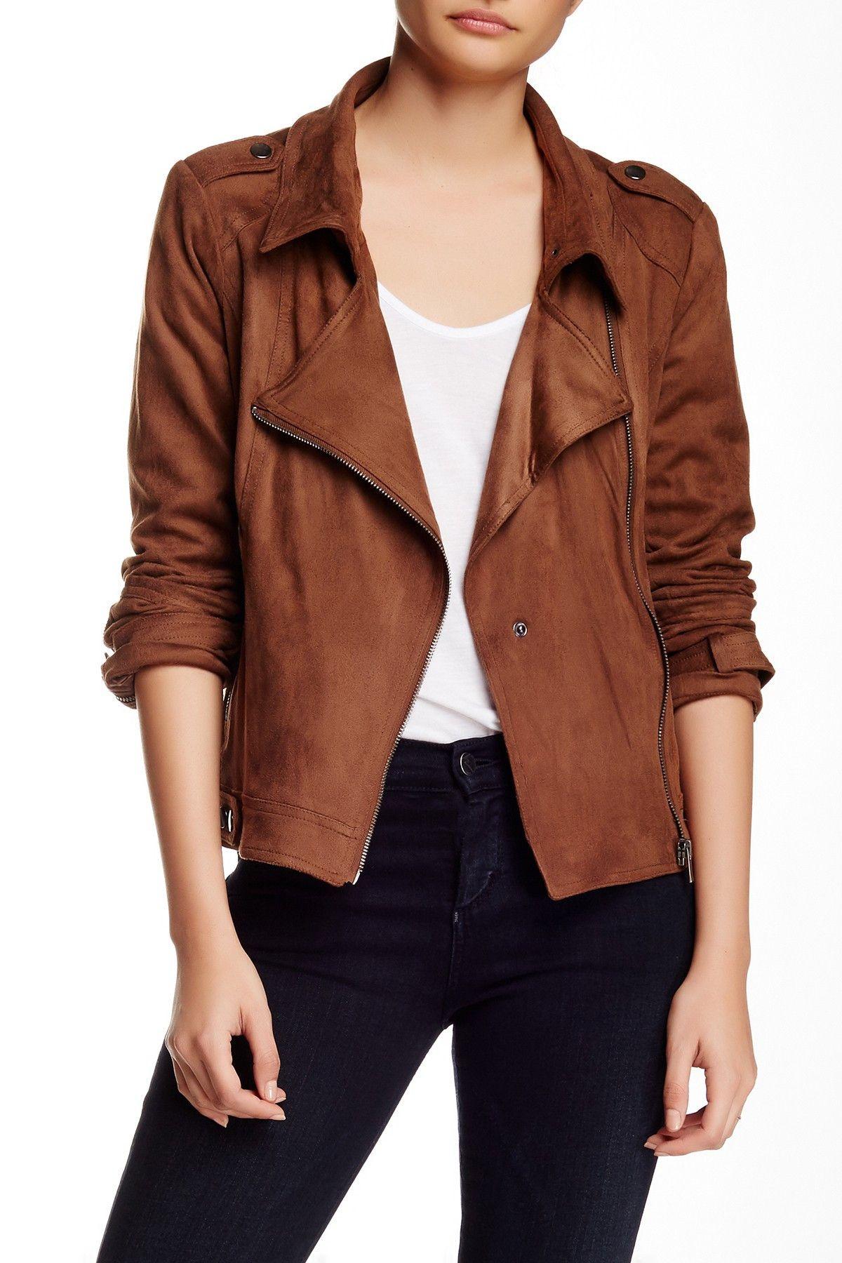 Leather jacket nordstrom rack - Bnci By Blanc Noir Faux Suede Moto Jacket Nordstrom Rack