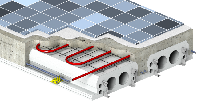 Insul Deck Is Formwork For Concrete Floors Roofs And Tilt Up Walls That Stays In Place As Insul Insulated Concrete Forms Concrete Formwork Concrete Structure