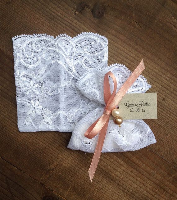lace favor bags white, jordan almonds bags, weddings, baptism, christening, sheer lace pouches, Set of 10, Handmade