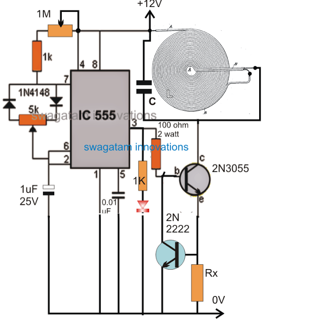 Wireless Battery Charger Circuit Diagram | High Current Wireless Battery Charger Circuit Electronic Projects