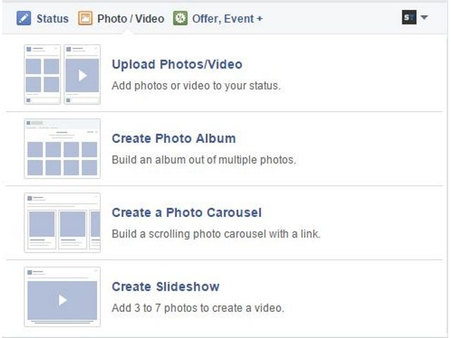 New Photo Upload Options For Facebook Page Admins Create Photo Album Social Media Facebook Canvas