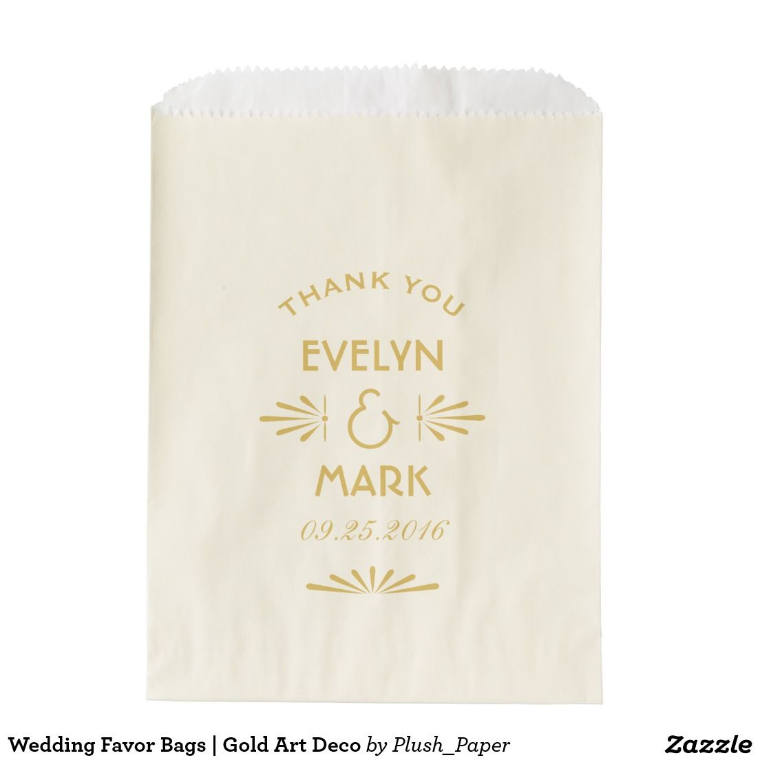 Wedding Favor Bags | Gold Art Deco | Wedding Favor Bags | Pinterest ...