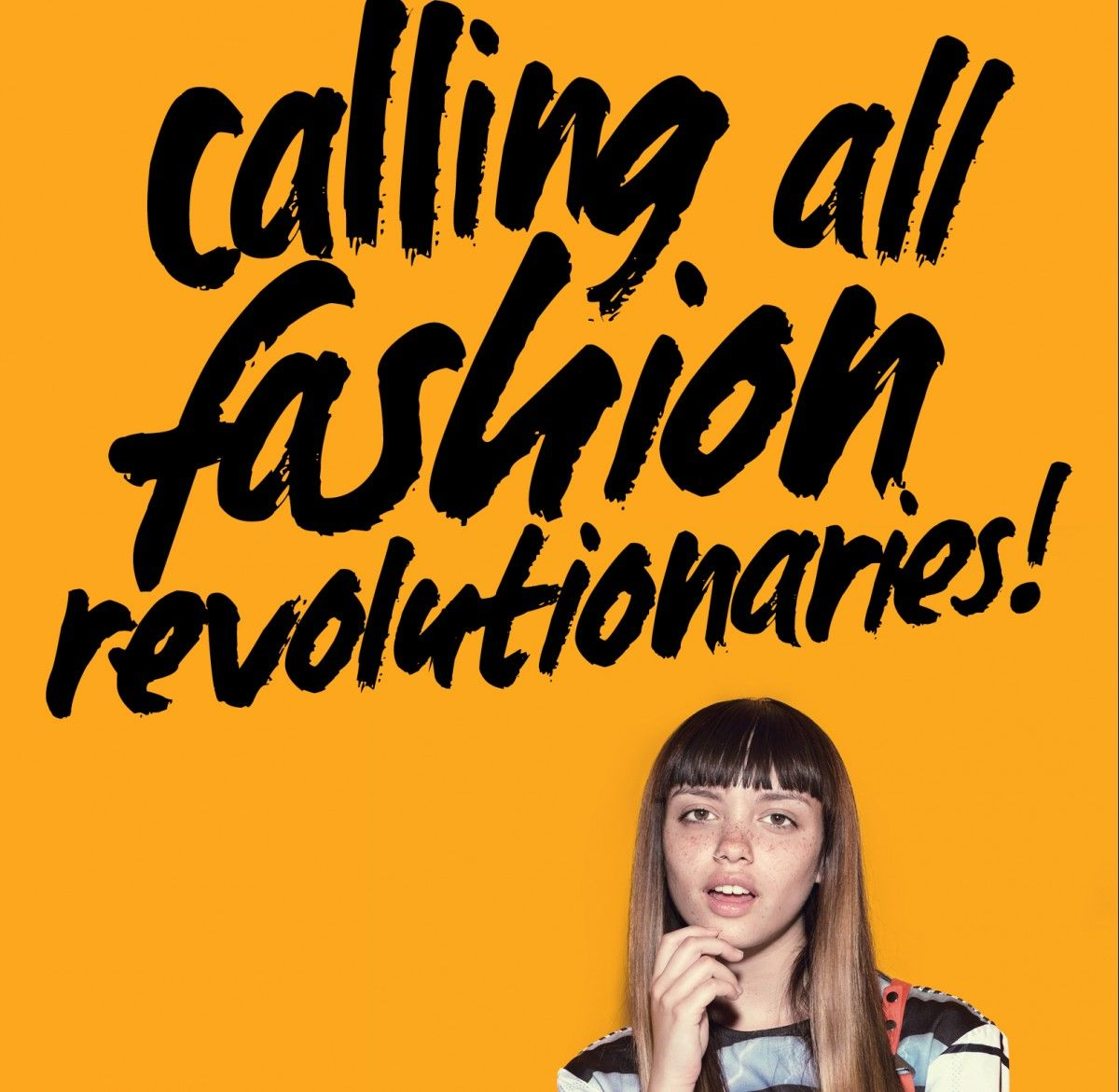 (Fashion Revolution's conscious consumer campaign engages millennials and young consumers of fashion. Credit: Fashion Revolution)