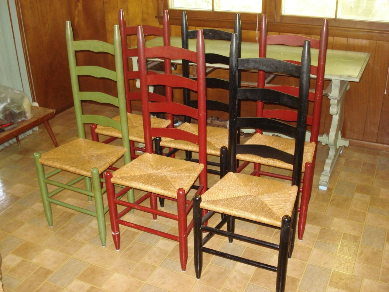 Painted ladder back chairs - Antique Ladder Back Painted Chair Bing Images
