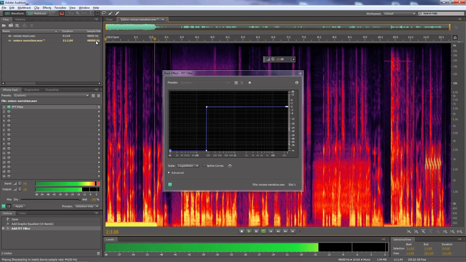 Adobe Audition Removing Individual Noises From Audio Clips Adobe Audition Audition Adobe Tutorials
