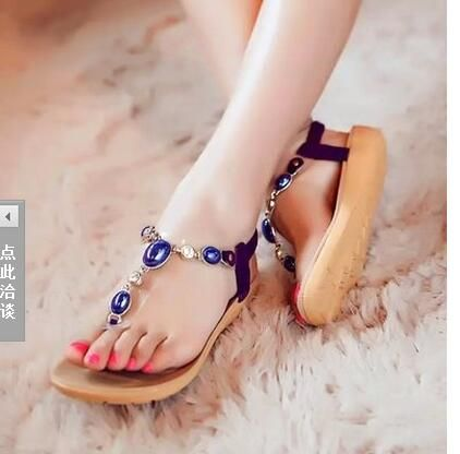 $15.28 (Buy here: http://appdeal.ru/9wbd ) women sandals 2016 comfort women sandals summer fashion classic rhinestone flat sandals large size 35 - 40 for just $15.28