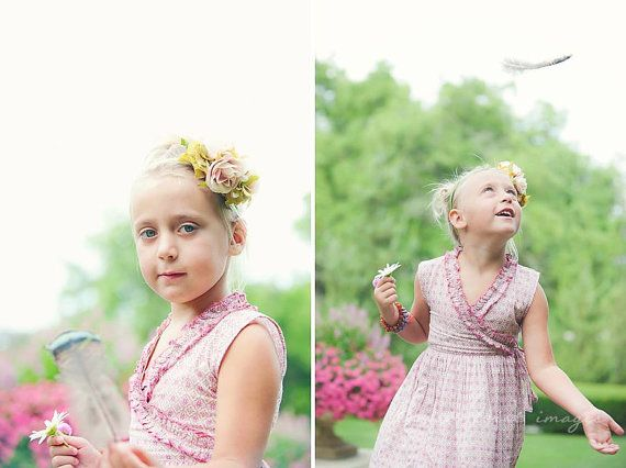Vintage Cottage stylized headband with pale pink by LaParisLaur, $36.00