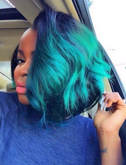 Mermaid Bob Green Blue Mermaid Life Hair Styles
