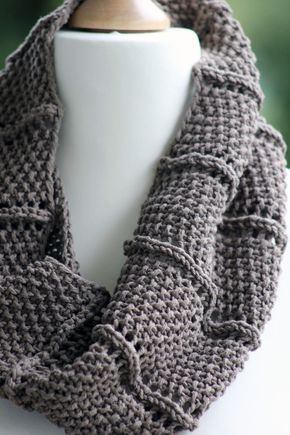 Free Knitting Pattern 2 Row Repeat Cowl An Easy Two Row Repeat