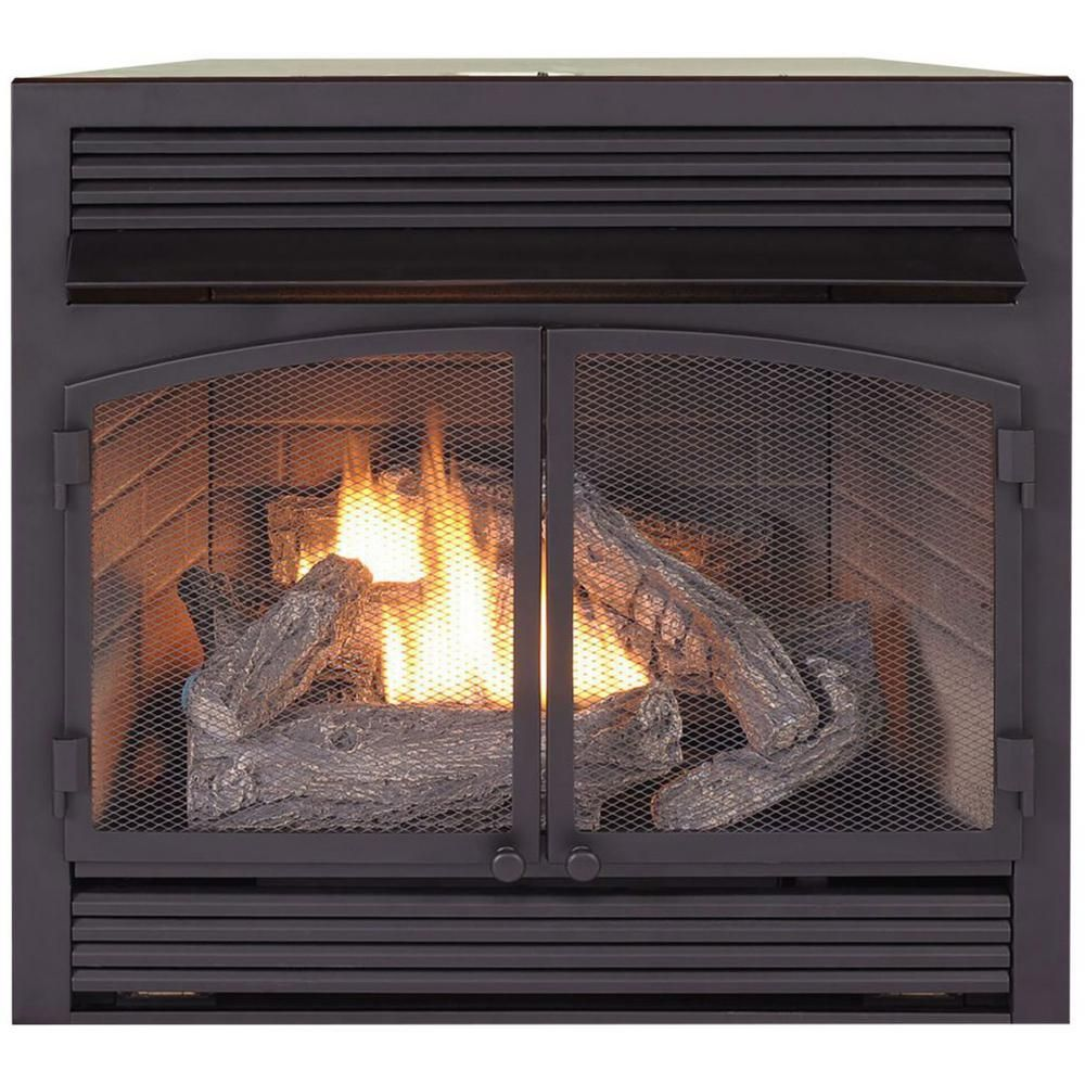 Procom Heating Dual Fuel Fireplace Insert Zero Clearance 32 000