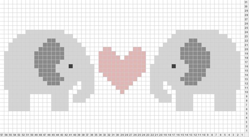 Blue Elephant Crochet Graphs Free 2 Pinterest