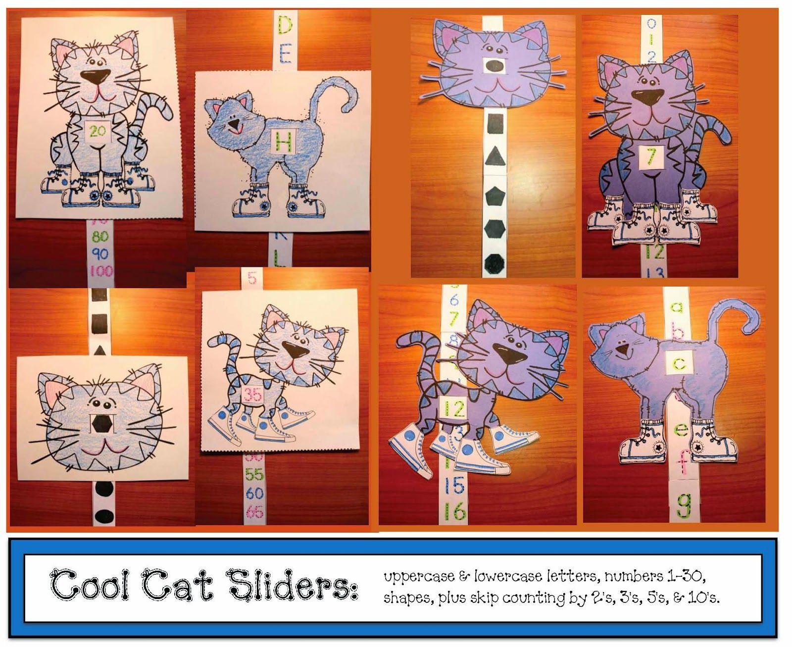 Classroom Freebies: Cool Cat Sliders