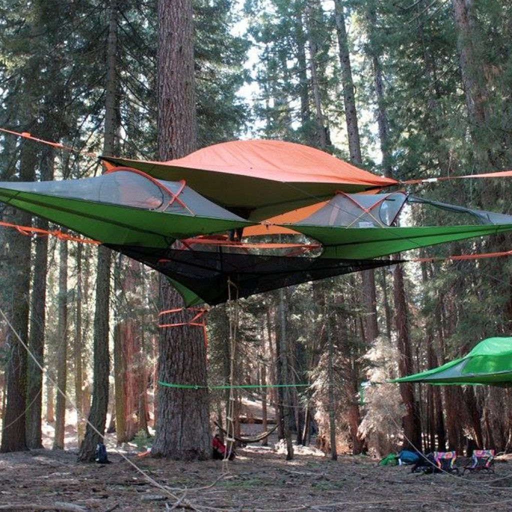 Hiking tent & Tentsile Connect Tree Tent: Orange | Hammock tent Tents and Tree tent