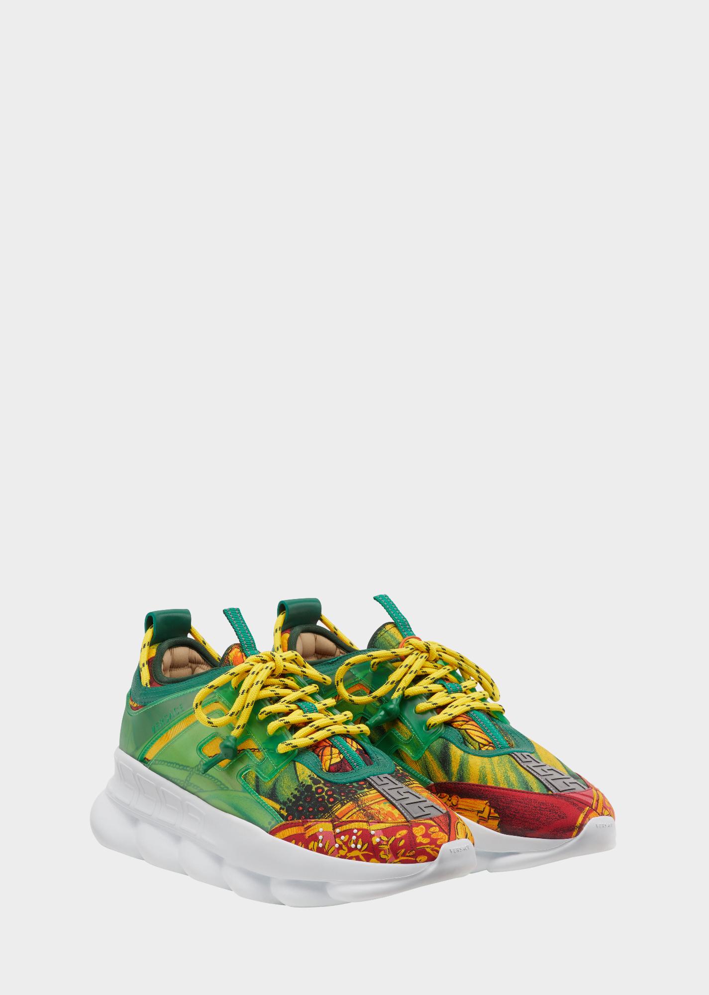 ee5ec25f34 Chain Reaction Sneakers for Men   Official Website   Versace chain ...