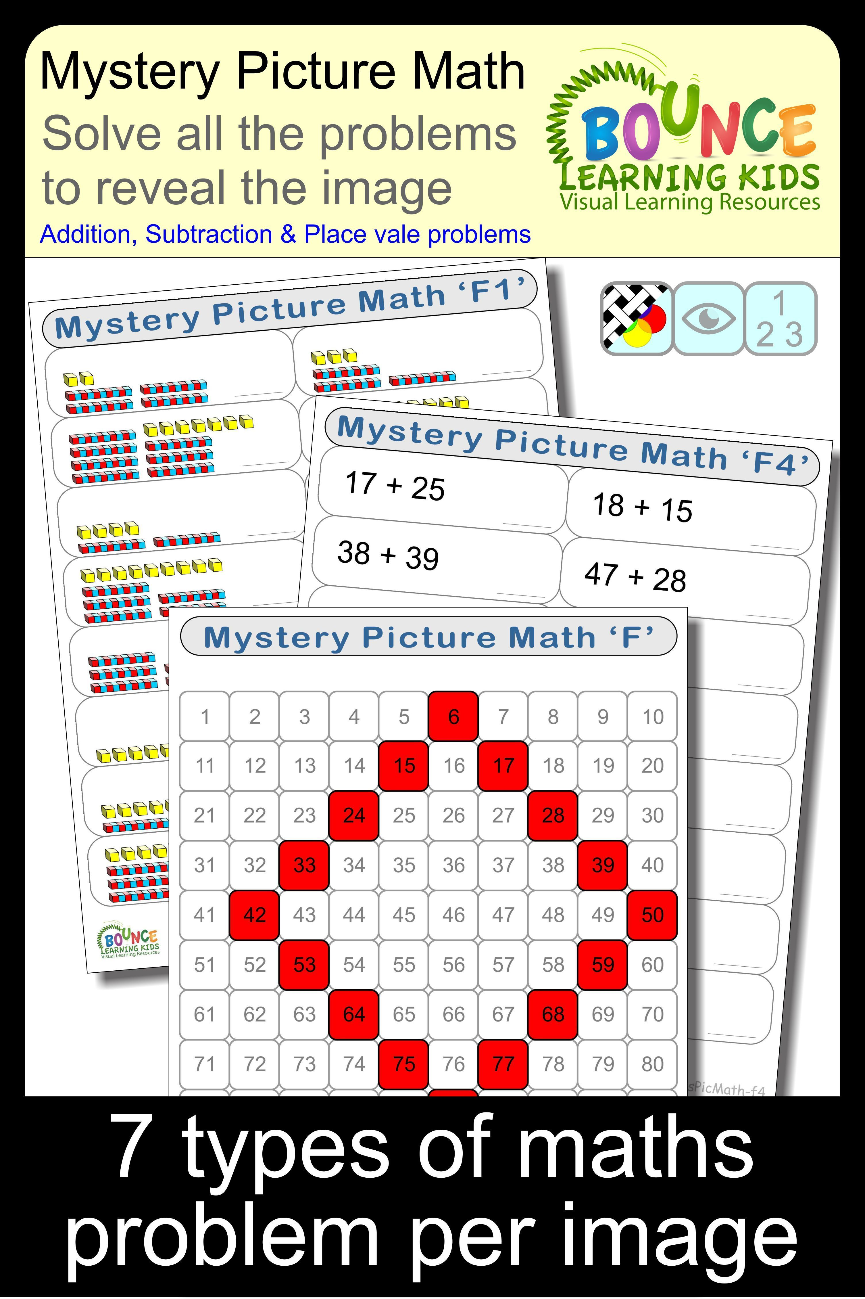Mystery Picture Math F Solve The Math Problems To Reveal